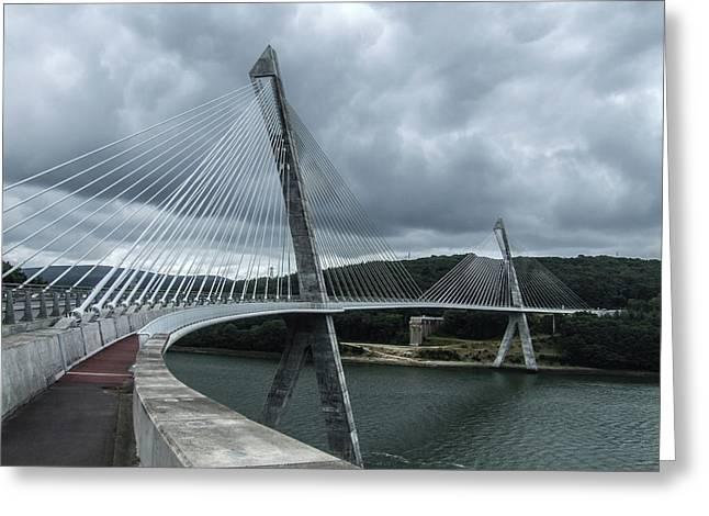 Terenez Bridge I Greeting Card by Helen Northcott
