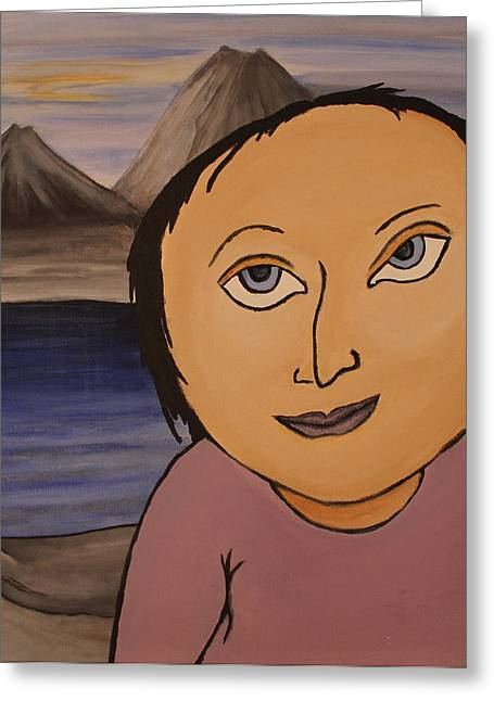 Teresa Greeting Card by Oscar Cielos