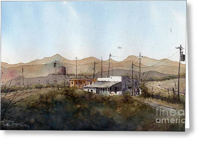 Terlingua Adobe Greeting Card by Tim Oliver