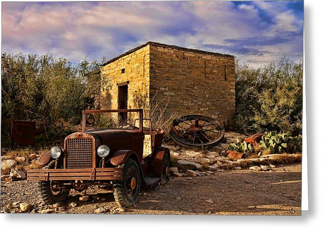Terlingua Ghost Town 1 Greeting Card by Judy Vincent