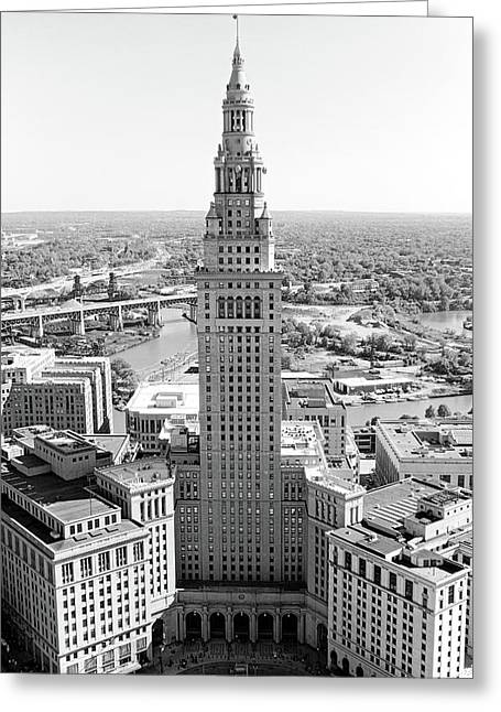 Terminal Tower Ca. 2015 Greeting Card