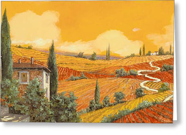 terra di Siena Greeting Card