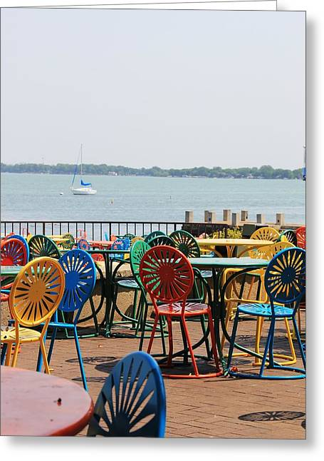 Terrace Chairs Greeting Card by Douglas Ransom