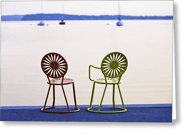 Terrace Chairs Greeting Card