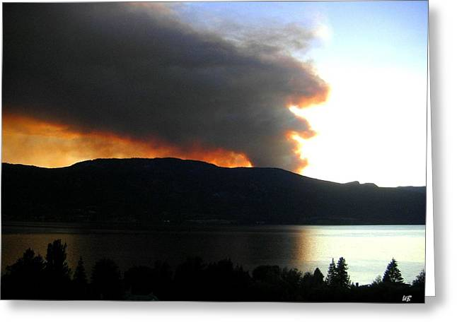 Terrace Mountain Fire Greeting Card by Will Borden