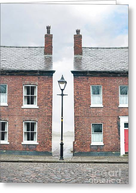 Terraced Houses Greeting Card by Lee Avison