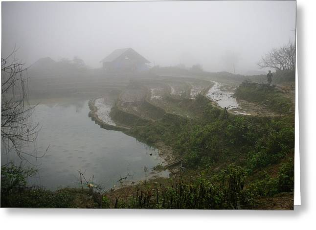 Greeting Card featuring the photograph Terraces In Sa Pa Village Vietnam by Irina ArchAngelSkaya