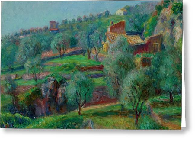 Terraces, South Of France Greeting Card by William James Glackens