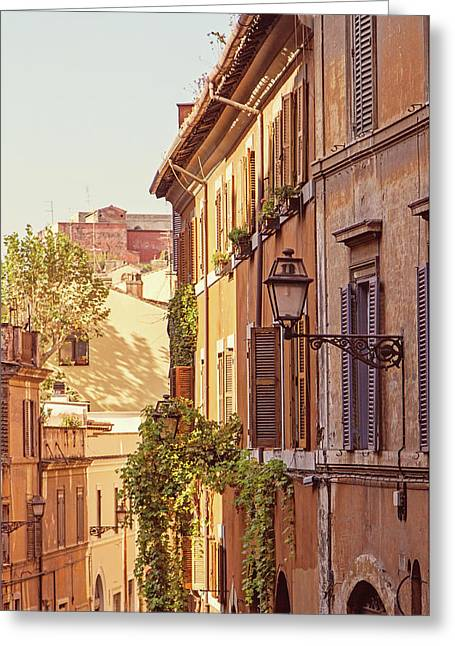 Terracotta - Rome Italy Travel Photography Greeting Card by Melanie Alexandra Price