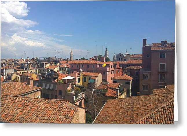 Greeting Card featuring the photograph Terracotta Rooftops by Anne Kotan