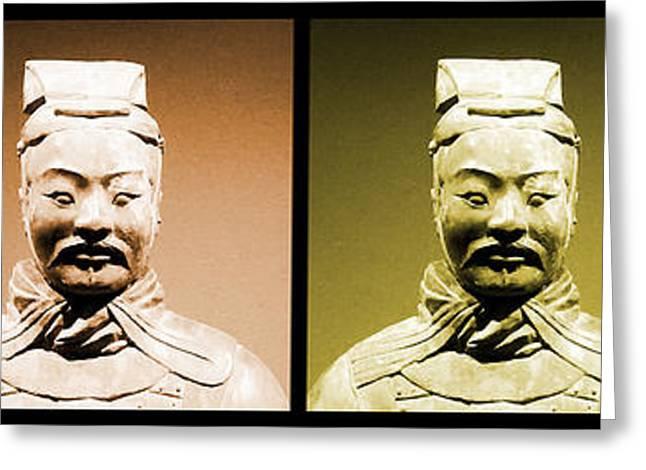 Terracotta Warrior Army Of Qin Shi Huang Di - Royg Greeting Card