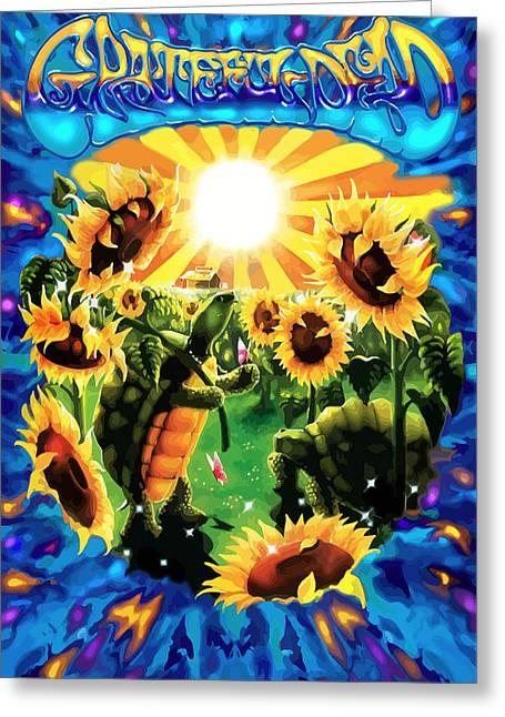 Terrapin Sun Flowers Greeting Card