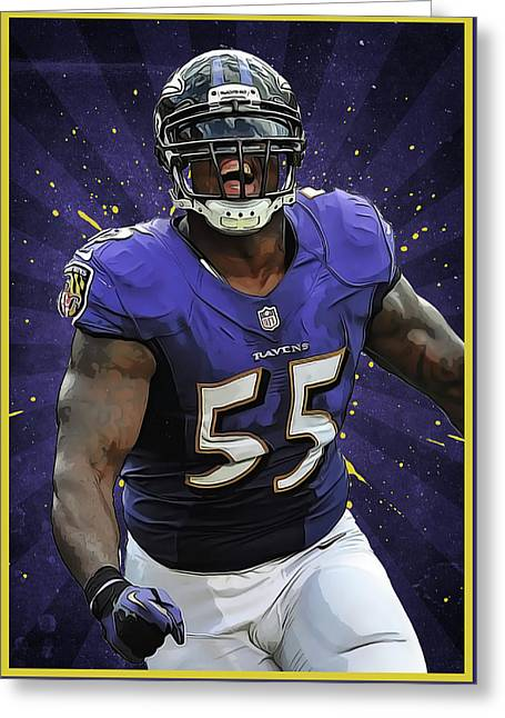 Terrell Suggs Greeting Card by Semih Yurdabak