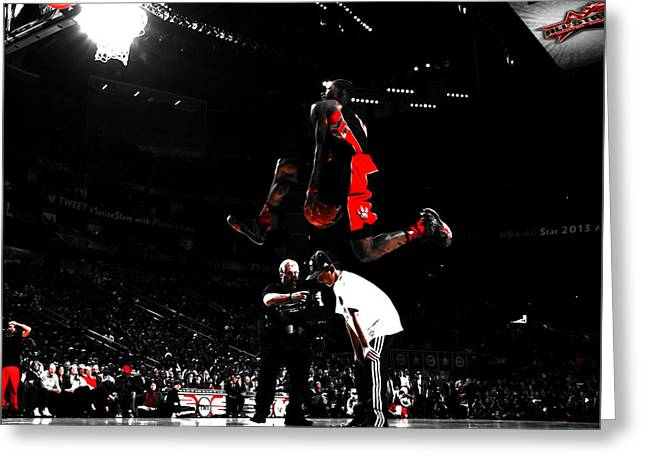 Terrence Ross Taking Flight Greeting Card