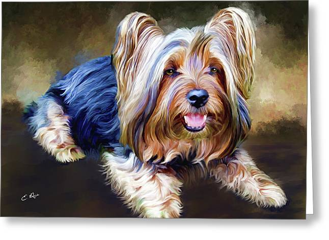Terrier Greeting Card by Ellens Art