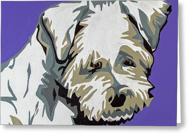 Terrier Mix Greeting Card by Slade Roberts
