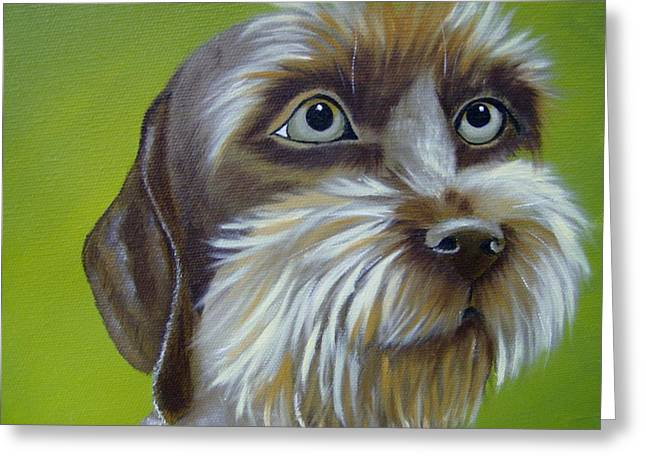 Terrier Waiting Patiently Greeting Card