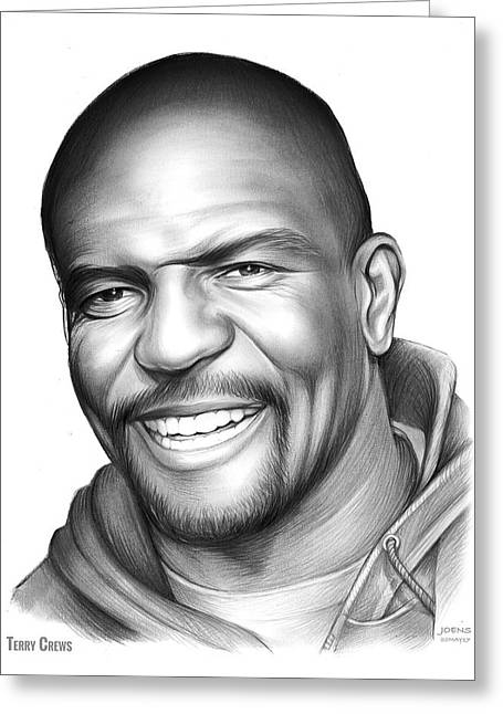 Terry Crews Greeting Card by Greg Joens