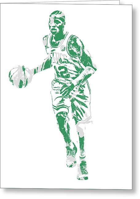Terry Rozier Boston Celtics Pixel Art 10 Greeting Card