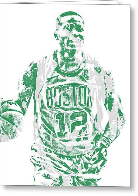 Terry Rozier Boston Celtics Pixel Art 11 Greeting Card