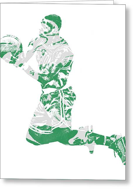 Terry Rozier Boston Celtics Pixel Art 12 Greeting Card