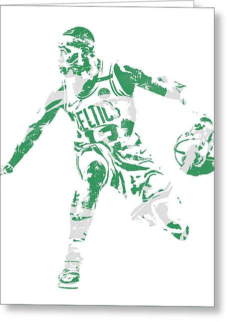 Terry Rozier Boston Celtics Pixel Art 13 Greeting Card