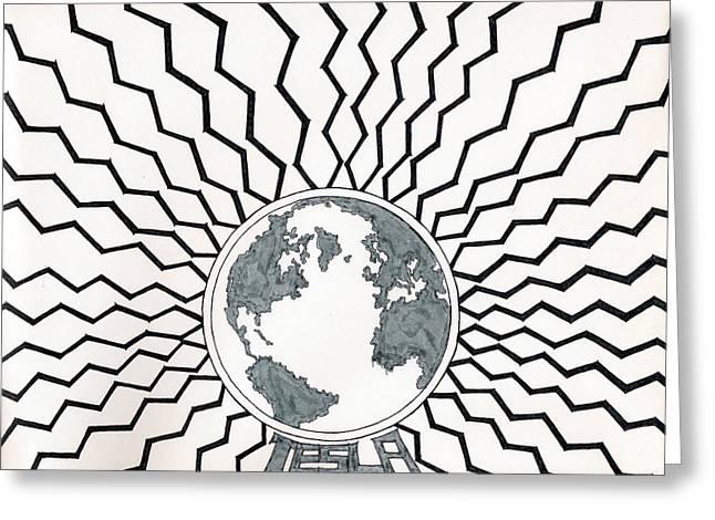 Tesla Changed The World Greeting Card