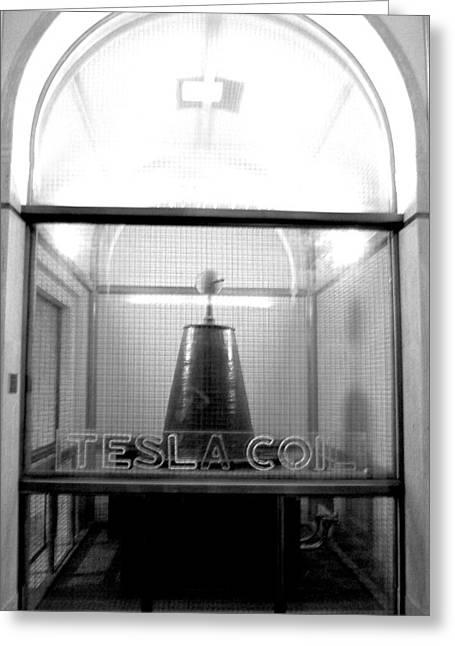 Tesla Coil Greeting Card by Jera Sky