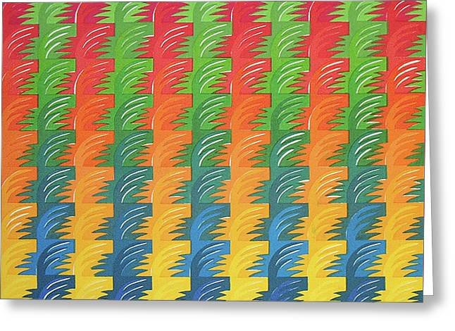 Tessellation Greeting Card by Jacqueline Phillips-Weatherly