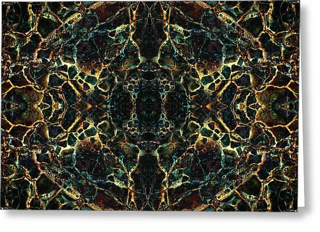 Tessellation V Greeting Card by David Gordon