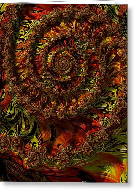 Spiraling Autumn Leaves  Greeting Card by Elizabeth McTaggart