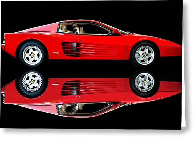 Testarossa Reflections Greeting Card by Adam Smith