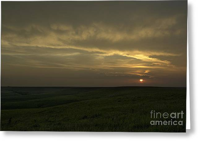 Teterville Sunset Greeting Card by Fred Lassmann