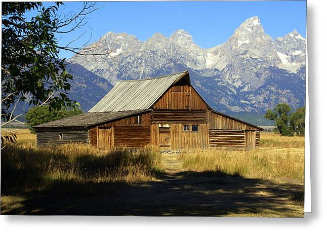 Teton Barn 4 Greeting Card by Marty Koch