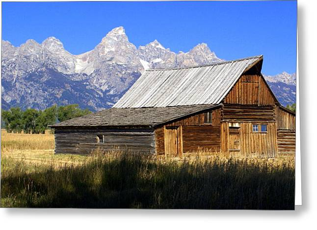 Teton Barn 5 Greeting Card by Marty Koch