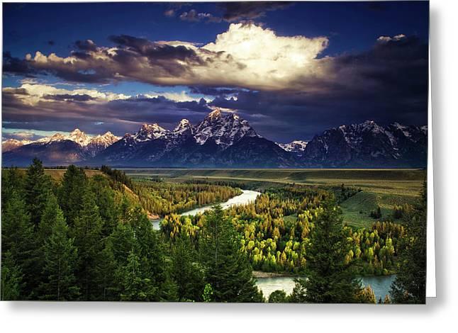 Teton Cloudburst Greeting Card