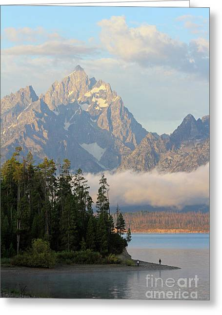Teton Early Morning Greeting Card