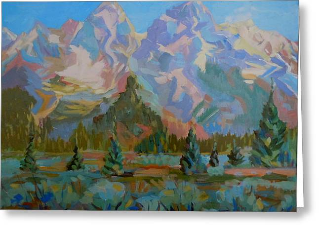 Teton Heaven Greeting Card by Francine Frank