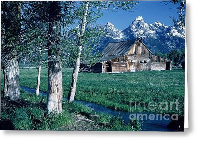 Teton Homestead  Greeting Card by Dennis Hammer