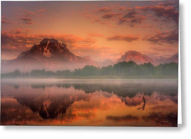Teton Mist Greeting Card