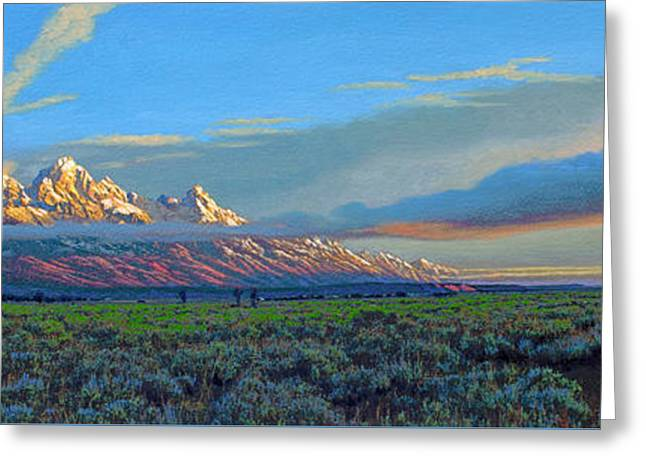 Teton Morning Greeting Card by Paul Krapf