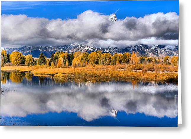 Teton Peaks In The Clouds Greeting Card