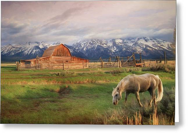 Teton Ranch Greeting Card by Lori Deiter