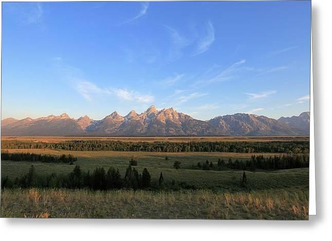 Teton Range After Sunrise Greeting Card