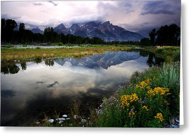 Teton Reflections Greeting Card by Eric Foltz