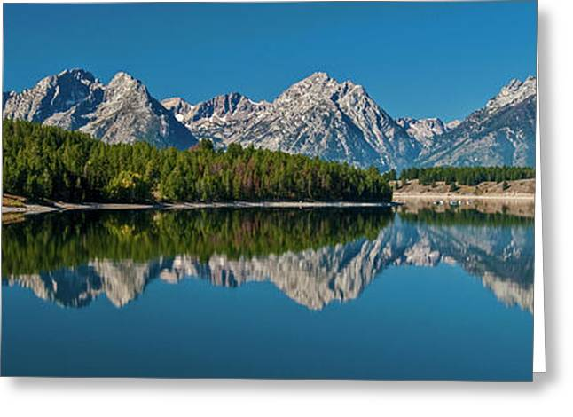 Greeting Card featuring the photograph Teton Reflections by Gary Lengyel