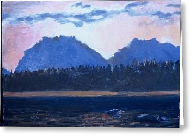 Teton Sunset Greeting Card by Bryan Alexander