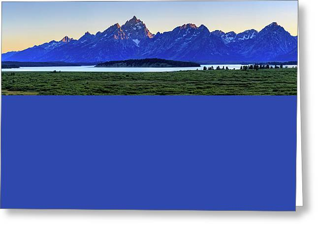 Greeting Card featuring the photograph Teton Sunset by David Chandler
