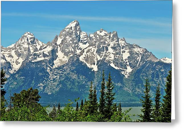 Tetons Across The Valley Greeting Card by Greg Norrell