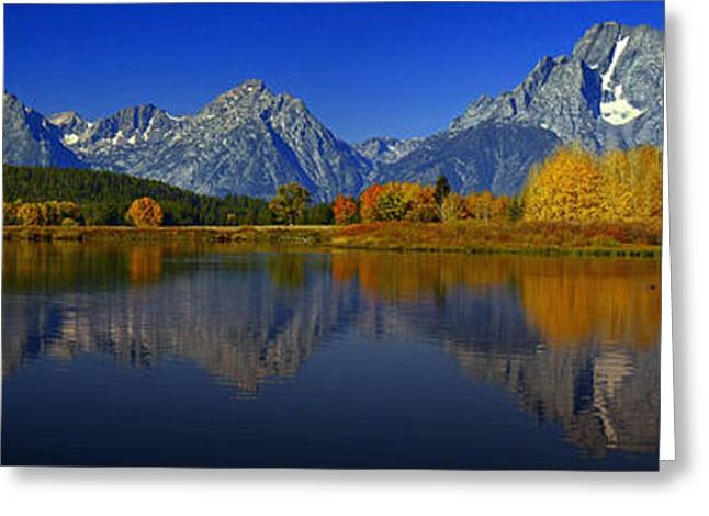 Tetons From Oxbow Bend Greeting Card